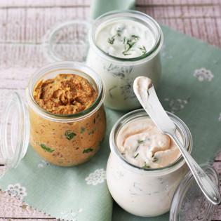 Rezept von Cynthia Barcomi – Forellencreme, Lachscreme und Tomatencreme