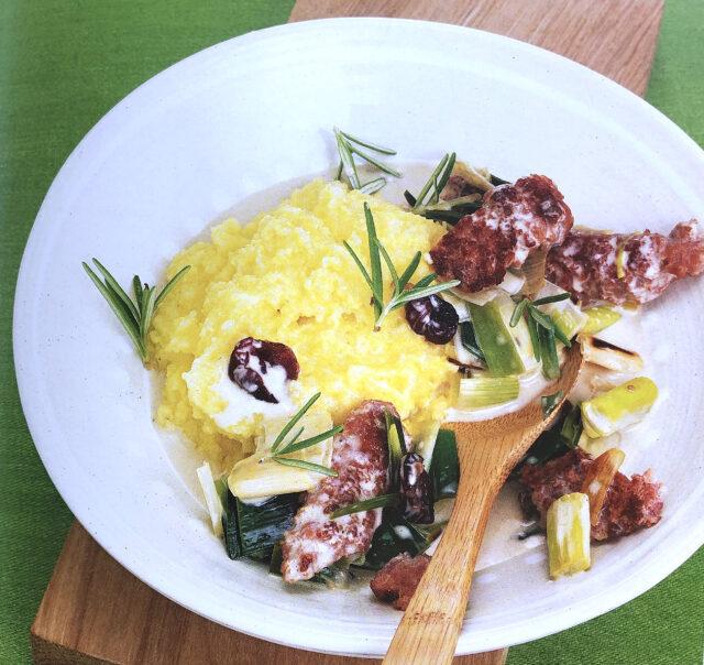 Rezept von Hans Gerlach: Salsicce-Lauch-Ragout mit Polenta & Rosmarin