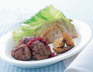 Rezept von Trine Hahnemann: Köttbullar (Fleischbällchen) mit Spitzkohl