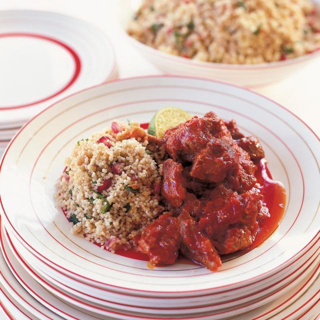 Rezept von Rachel Allen: Lamm-Tagine mit Granatapfel-Couscous