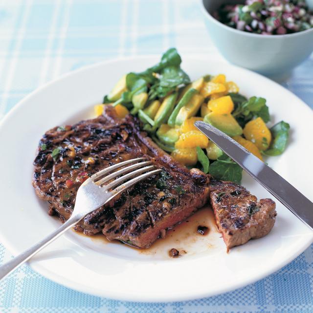 Rezept von Rachel Allen: Steak mit Chimichurri-Salsa