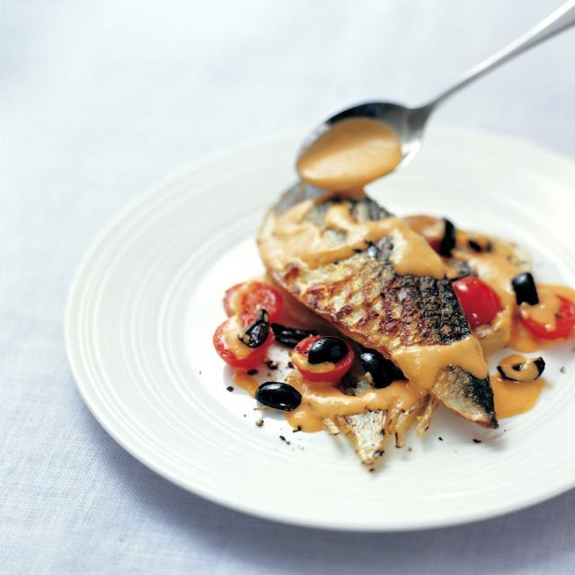 Rezept von Paul Gayler: Gegrillte Makrele mit Orangen-Romesco