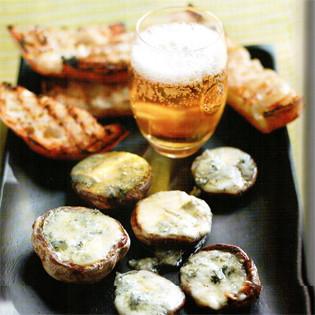 Rezept von Gino D'Acampo: Champignons gefüllt mit Gorgonzola und Honig