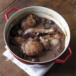Rezept von Ginette Mathiot: Coq au vin