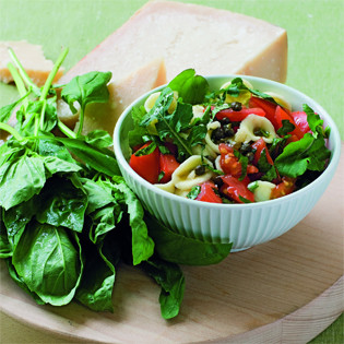 Rezept von Michele Cranston: Pasta mit frischen Tomaten und Rucola