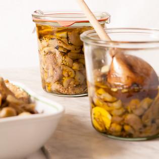 Rezept von Rosa Mitchell: Melanzane sott'olio – Eingelegte Auberginen
