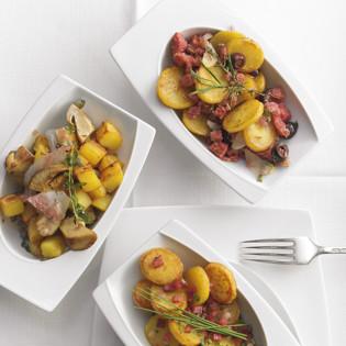 Rezept von Cornelia Poletto: Klassische und mediterrane Bratkartoffeln