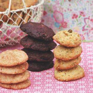 Rezepte von Annik Wecker: Schoko-, Bananen- und Pinienkern-Pistazien-Cookie