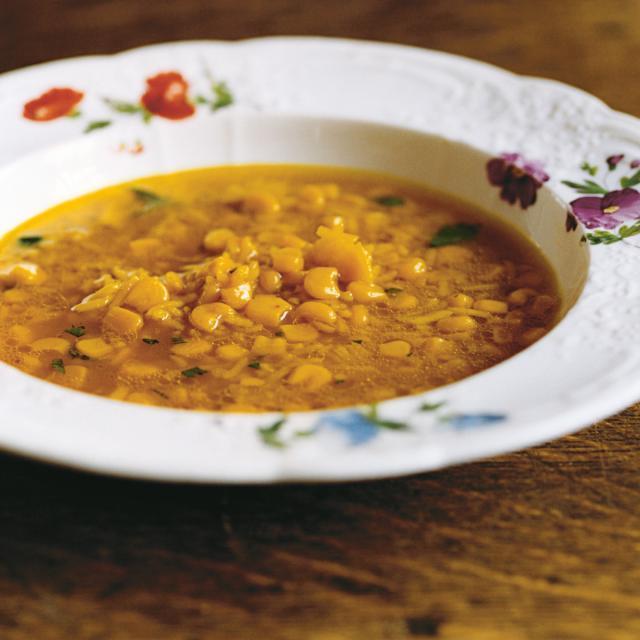 Rezept von Ravinder Bhogal: Maissuppe mit Reis & Ingwer