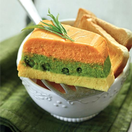 Rezept von Tanja Dusy: Dreifarbige Gemüseterrine