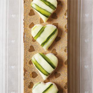 Rezept von Angel Adoree: Frischkäse-Gurken-Herzen