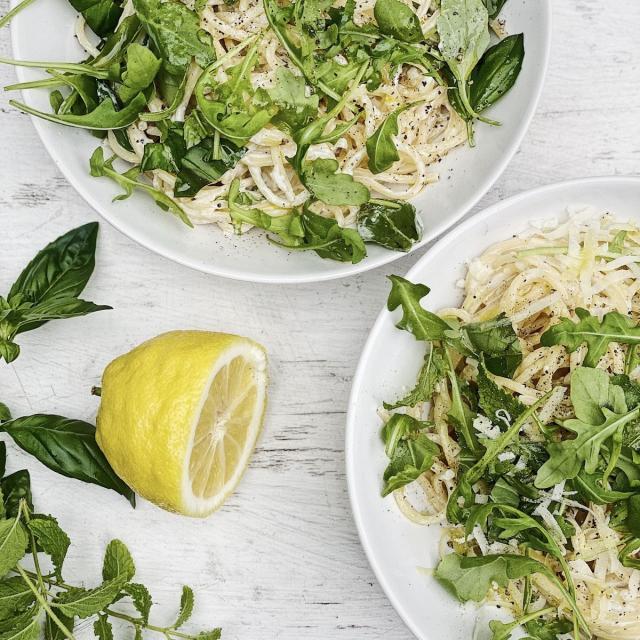 Rezept von Lucas Hollweg: Spaghetti mit Ricotta & Kräutern