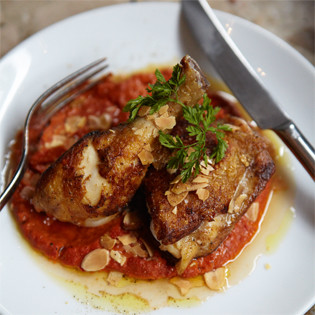 Rezept aus Barrafina: Chicken with Romesco Sauce
