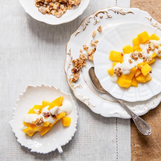 Rezept von Ferran Adrià: Mango mit Schokojoghurt