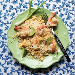 Rezept aus Thaiküche: Kaho Pad Gung – Gebratener Reis mit Garnelen