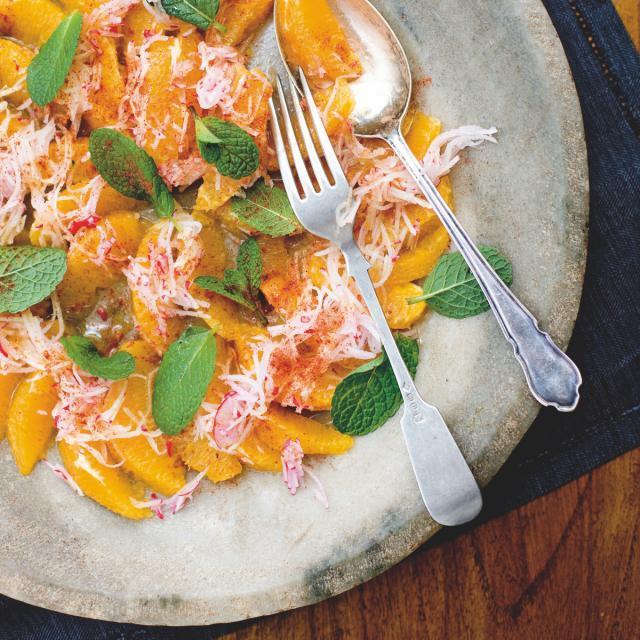 Rezept von Stephanie Alexander: Orange, Radish and Mint Salad