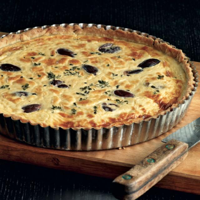 Rezept von Margit Proebst: Ziegenkäse-Oliven-Quiche
