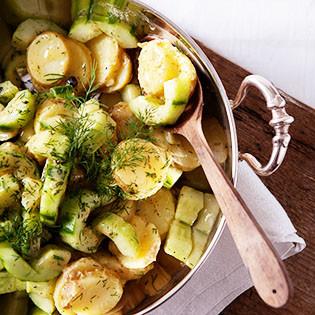 Rezept von Nigel Slater: Ein Salat aus Kartoffeln, Senf und Gurke