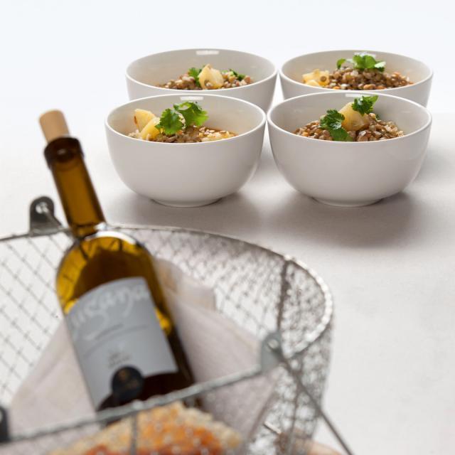 Rezept von Sonja Riker: Kartoffeln in scharfen Sahnelinsen
