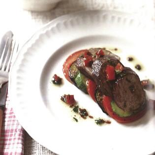Rezept von Daniel Galmiche: Gebratenes Lamm mit Gemüse & Sauce Vierge