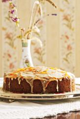 Rezept von Tamara Hänggli: Walisischer Karottenkuchen mit Orangenglasur