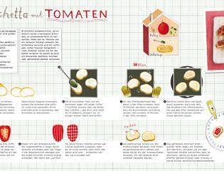 rezept aus silberl ffel f r kinder bruschetta mit tomaten valentinas. Black Bedroom Furniture Sets. Home Design Ideas