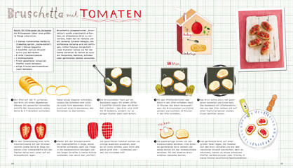rezept aus silberl ffel f r kinder bruschetta mit tomaten. Black Bedroom Furniture Sets. Home Design Ideas