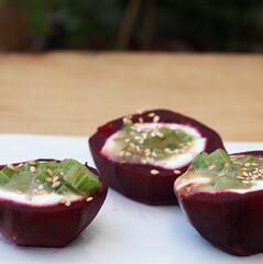 Rezept von Christel Kurz: Rote Bete mit Wasabi-Sellerie