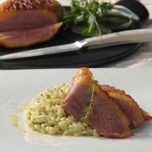 Rezept von Franco Luise: Risotto mit Entenbrust & Gartenkräutern
