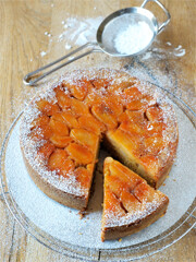 Rezept von Sabine Hueck: Apfel-Honig-Kuchen