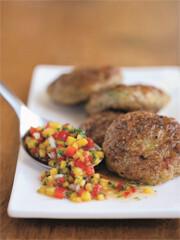 Rezept von Sabine Hueck: Garnelen-Buletten mit Mango-Chili-Sauce