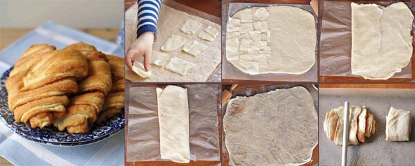 Rezept aus Heimwehküche Backen: Franzbrötchen