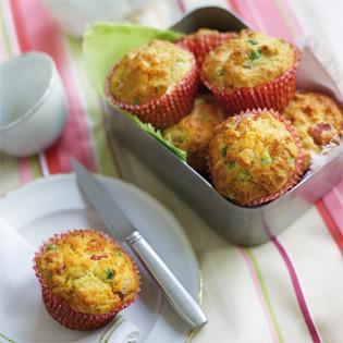 Rezept von Tarek Malouf: Muffins mit Schinken, Erbsen und Feta