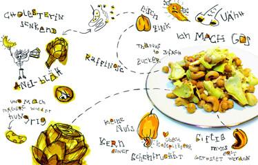 Rezept von Katharina Bretsch: Röstsalat von Artischocken und Kichererbsen