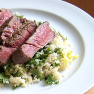 Rezept von Andy Harris: Couscous-Salat mit Rindfleischstreifen