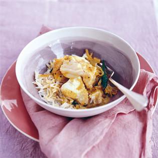Rezept von Anjum Anand: Duftendes Fischcurry mit Kokosmilch
