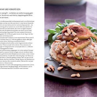 Rezept von Nicola Graimes: Blini mit Auberginenkaviar und Honigfeigen