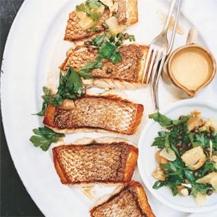 Rezept von Bill Granger: Fisch mit zweierlei Sauce