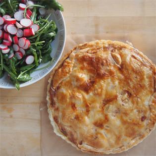 Rezept von Gilles + Laurence Laurendon: Gedeckter Kartoffel-Münsterkäse-Kuchen