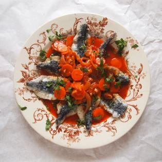 Rezept von Tessa Kiros: Sardinen in Escabeche