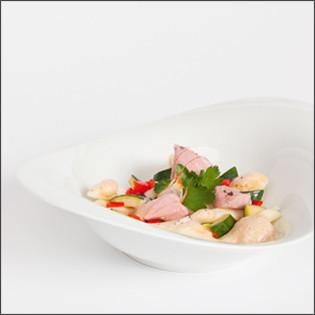 Rezept aus Sous Vide: Lammschulter mit geschmorter Paprika, Zucchini und Strozzapreti