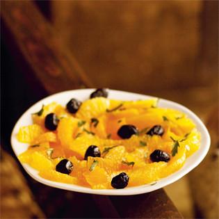 Rezept von Paula Wolfert: Orange and Olive Salad