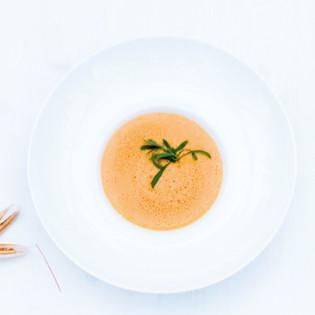 Rezept von Antonio Esposito: Cremesuppe von Scampi