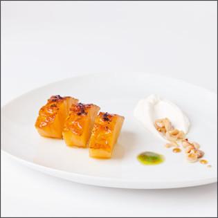 Rezept aus Sous-Vide: Ananas mit Koriander, Chili und griechischem Joghurt