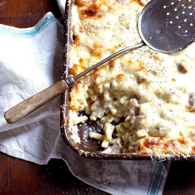 Rezept von Nino Zoccali: Maccheroni al forno con gorgonzola