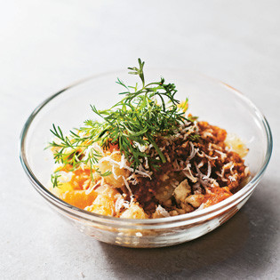 Rezept von Simon Bryant: Grapefruit-Kokos-Mandarinen-Salat