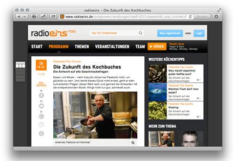 Zu Gast bei Radio Eins – Paetzolds Pop Cuisine