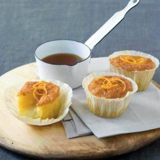 Rezept von Paul Simon: Orangenküchlein mit Grand-Marnier-Füllung