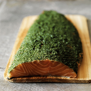 Rezept von Mark Hix: Baked salmon with honey, mustard and dill
