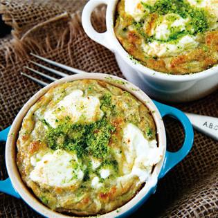 Rezept von Madalene Bonvini-Hamel: Zucchini-Ziegenkäse-Gratins
